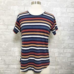 Madewell   Colored Striped Slub Tee Shirt SMALL